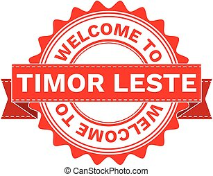 Vector Illustration Doodle of WELCOME TO COUNTRY TIMOR...
