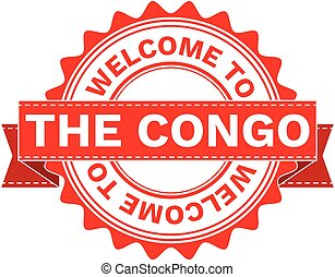 Vector Illustration Doodle of WELCOME TO COUNTRY THE CONGO.