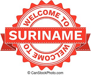 Vector Illustration Doodle of WELCOME TO COUNTRY SURINAME....