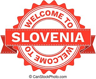Vector Illustration Doodle of WELCOME TO COUNTRY SLOVENIA....