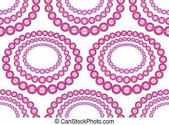 Glass beads necklace pattern - Seamless pattern of the color...