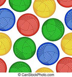 Wool skein pattern - Seamless pattern of the skein balls