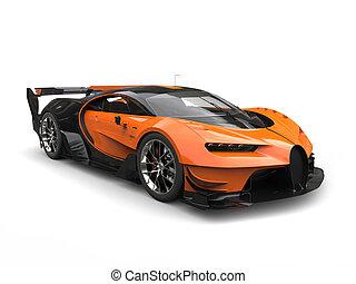 Black and orange supercar - studio shot