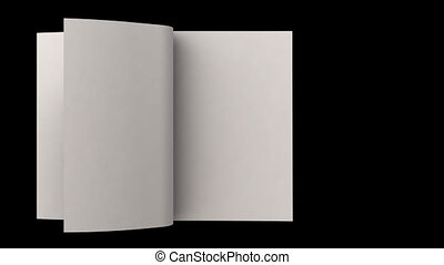Flipping white blank pages