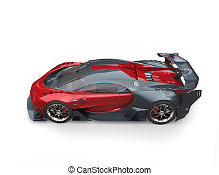 Red and grey race supercar