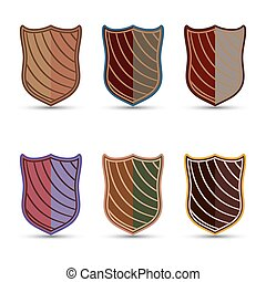 The vector set of colored shields