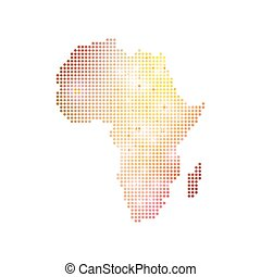 Dotted Africa Map. Geometric graphic background...