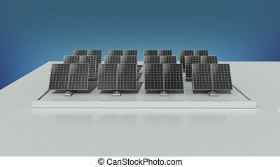 Solar energy changed power electric energy. and supply a...