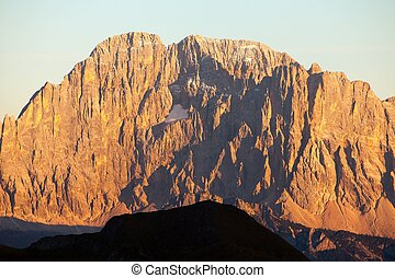 mount Civetta, Alps dolomites mountains, Italy - Evening...