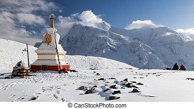 Panoramic view of Annapurna range - Panoramic view of...