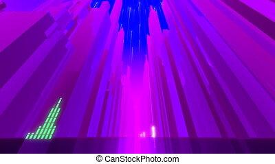 VJ Retro Futuristic Purple City - Retro futuristic....