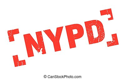 Nypd rubber stamp. Grunge design with dust scratches....