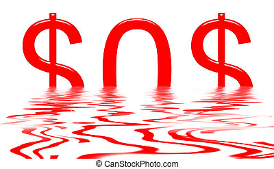 Sinking Dollar SOS - Dollar sinking with SOS signal isolated...