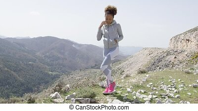 Young beautiful woman in sportswear posing - Young funny...