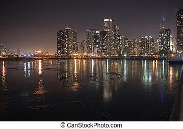 Water flashing light of high-rise blocks