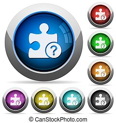 Unknown plugin round glossy buttons - Unknown plugin icons...