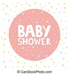 Baby Shower invitation cards template vector illustration