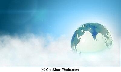 Globe in sky