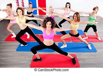 women doing streching - image of women doing streching in...