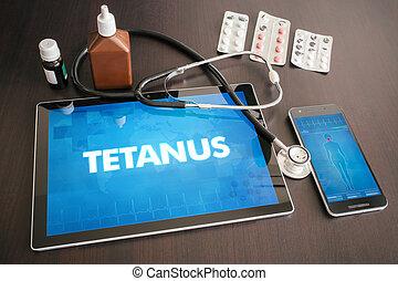 concepto, (infectious, tétano, tableta, médico,...