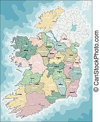 Map of Ireland - Ireland, also known as the Republic of...