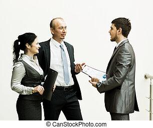 金融, 事務, 圖像, 結果, 隊, 討論, 後