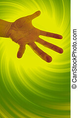 Contorted hand - Helping hand