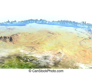 Egypt on Earth - visible ocean floor
