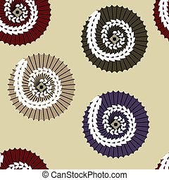 vector seamless ornament with traditional japanese umbrellas...