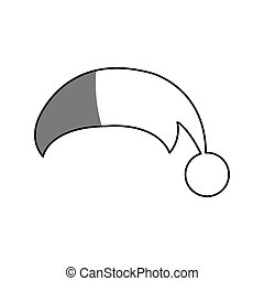 christmas hat icon over white background. vector...