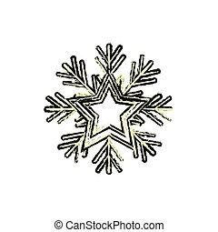 winter snowflake icon - snowflake icon over white...