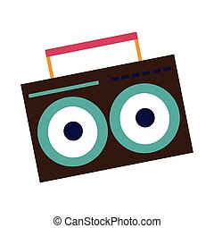 boombox icon image - boombox icon over white background....