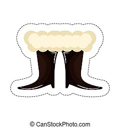 Claus,  santa, botas