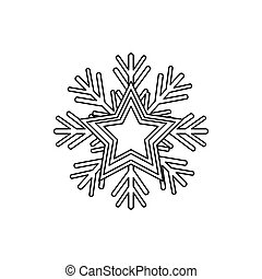 winter snowflake icon - snowflake icon over white...