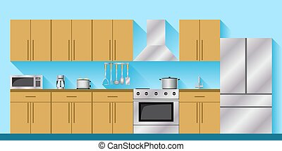 Kitchen furniture and appliances.. - Kitchen with appliances...