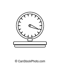delivery weight scale icon vector illustration graphic...