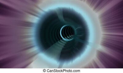 Star gate to another galaxy - Space travel through worm hole...