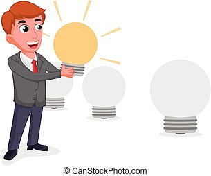 businessman selecting the best employee