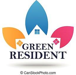 Real Estate sign and symbol design - vector illustration of...