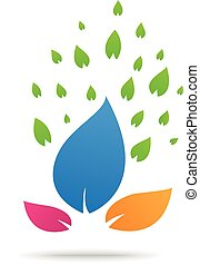 Green nature symbol element and icon - vector illustration...