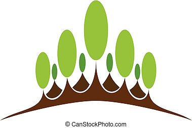 Green nature symbol element and icon