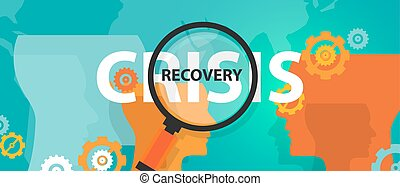 crisis and recovery from depression concept of thinking...