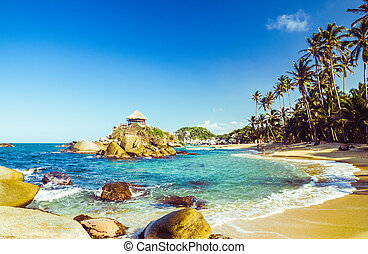 Tayrona national park in Colombia - bay by Tayrona national...