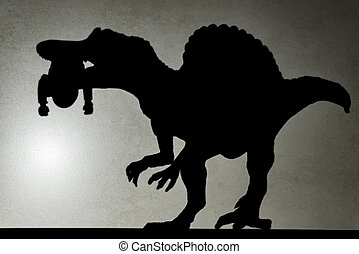 cuerpo, no, pared, Marca registrada, spinosaurus, Morder,...