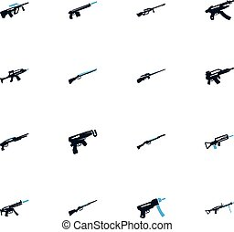 Set of hand weapons - Hand weapons icon set for web sites...