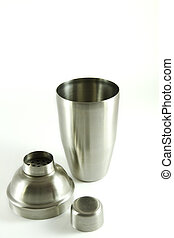 Cocktail shaker - Stainless steel cocktail shaker isolated...
