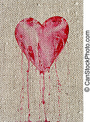 bleeding heart - Detail of the bleeding heart - symbol of...