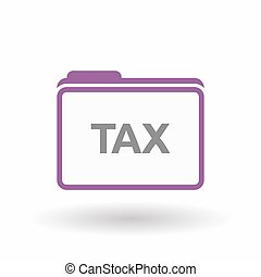 Isolated folder with  the text TAX
