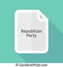 Long shadow document with the text Republican Party -...