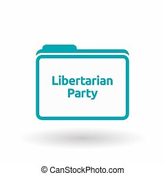 Isolated folder with the text Libertarian Party -...